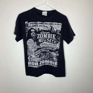 Mens S Black Rob Zombie Short Sleeve Shirt